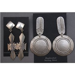 TWO PAIRS OF NAVAJO EARRINGS
