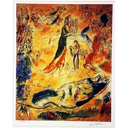 Marc Chagall  Signed Limited Edition - The Madonna in a Red Robe