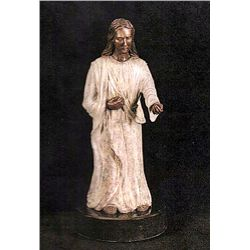 Bronze Sculpture - Standing Jesus by D. Hunter
