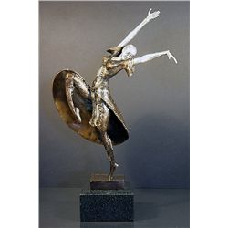 Chiparus Bronze and Silver Sculpture - Almeria