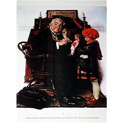 Norman Rockwell Lithograph-Doctor and Doll