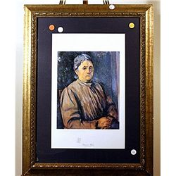 Portrait Of A Woman  - Cezanne - Lithograph