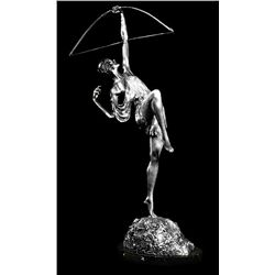 Original Fine Silver Sculpture - Archer by Fauays