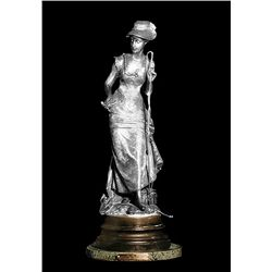 Original Fine Silver Sculpture - At the River by Moreau