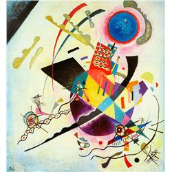 Blue Circle - Kandinsky - Limited Edition on Canvas