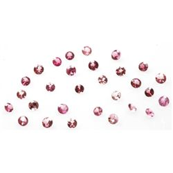 Natural 3.11ctw Pink Tourmaline Round 3-3.5mm (29)