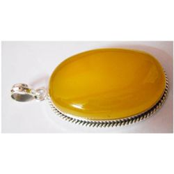 Natural 86.05 ctw Yellow Onex Pendant .925 Sterling