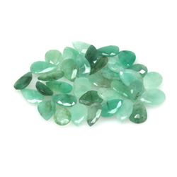 Natural 31.26ctw Emerald Pear Shape (31) Stone