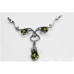 NATURAL 4.00g PERIDOT OVAL PENDANT .925 STERLING SILVER