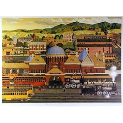 Filmore Mix Media Lithograph  La Grande Station 