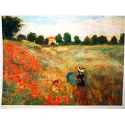 Limited Edition Monet- Poppies at Argenteuil - Collection Domaine Monet