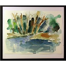Original Watercolor on Paper by  Michael Schofield.
