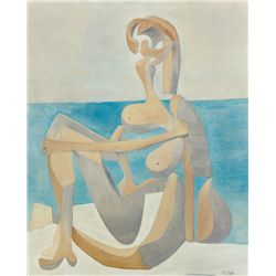 Seated Bather- Picasso- Limited Edition on Canvas