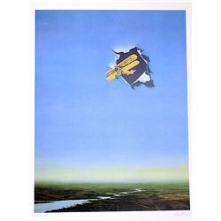 David Mann Signed and Numbered Lithograph - Airplane