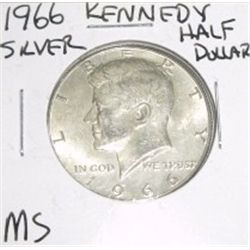 1966 Kennedy SILVER Half Dollar *RARE MS HIGH GRADE - NICE COIN*!!