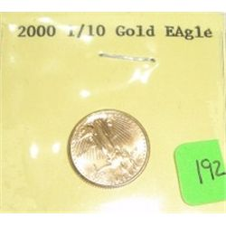 2000-P $5 Dollar GOLD EAGLE Bullion Coin *1/10 oz PURE GOLD*!!