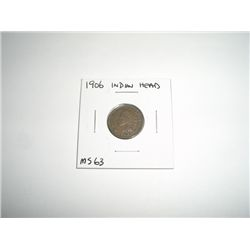 1906 Indian Head Penny *EXTREMELY RARE MS-63 HIGH GRADE - NICE COIN*!!