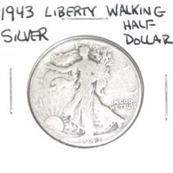 1943 Liberty Walking SILVER Half Dollar *PLEASE LOOK AT PICTURE TO DETERMINE GRADE - NICE COIN*!!
