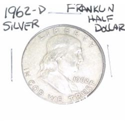 1962-D Franklin SILVER Half Dollar *PLEASE LOOK AT PICTURE TO DETERMINE GRADE - NICE COIN*!!