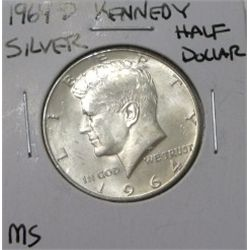 1964-D Kennedy SILVER Half Dollar *RARE MS GRADE - PLEASE LOOK AT PICTURE TO DETERMINE GRADE - NICE