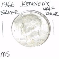 1966 Kennedy SILVER Half Dollar *RARE MS GRADE - PLEASE LOOK AT PICTURE TO DETERMINE GRADE - NICE CO