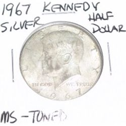 1967 Kennedy SILVER Half Dollar *RARE MS TONED - PLEASE LOOK AT PICTURE TO DETERMINE GRADE - NICE CO