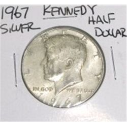 1967 Kennedy Silver Half Dollar *PLEASE LOOK AT PICTURE TO DETERMINE GRADE - NICE COIN*!!