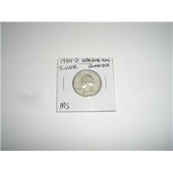 1964-D Washington SILVER Quarter *RARE MS HIGH GRADE*!!