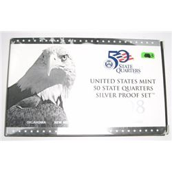 2008 SILVER 50 State Quarters Proof Set *OK, NM, AZ, AK & HI*!!