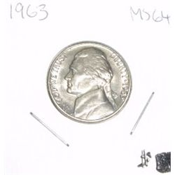 1963 Jefferson Nickel *RARE MS-64 HIGH GRADE* Nice Coin!!
