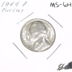 1964-D Jefferson Nickel *RARE MS-64 HIGH GRADE* Nice Coin!!