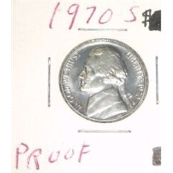 1970-S Jefferson Nickel *RARE PROOF HIGH GRADE* Nice Coin!!