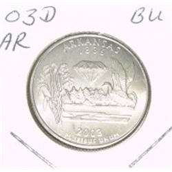 2003-D Washington STATE Quarter *ARKANSAS BU-BRILLIANT UNC HIGH GRADE* NICE COIN!!