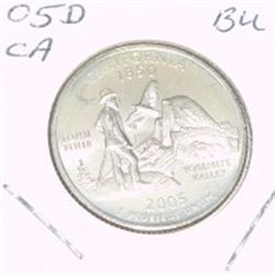 2005-D Washington STATE Quarter *CALIFORNIA BU-BRILLIANT UNC HIGH GRADE* NICE COIN!!
