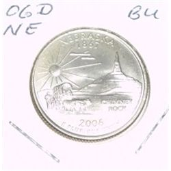 2006-D Washington STATE Quarter *NEBRASKA BU-BRILLIANT UNC HIGH GRADE* NICE COIN!!