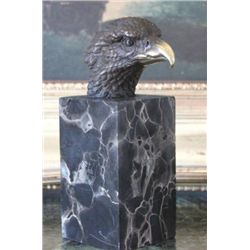Noble Eagle Bust Bronze Sculpture