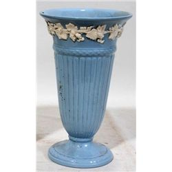 BLUE WEDGWOOD QUEENSWARE PORCELAIN VASE