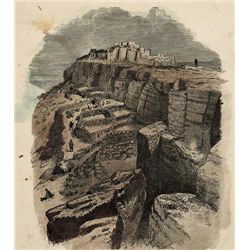 DISTANT VIEW OF MOQUI from a collection of rare prints