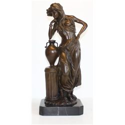 Elegant Bronze Sculpture Athena Greek Goddess