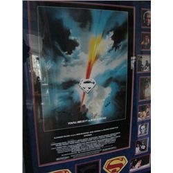 RARE Framed SIGNED Superman move poster. Signed by mem