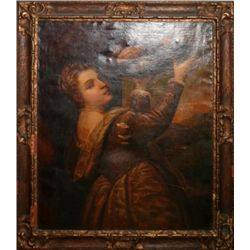 AFTER TITIAN OIL ON CANVAS 19TH C