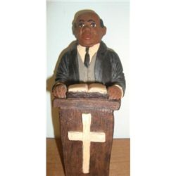 MWF1440 Black Americana Minister in Pulpit Figure