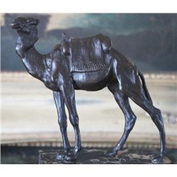 Excellent Camel Bronze Sculpture After L. Carvin