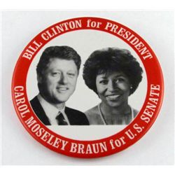 1992 CLINTON for President and CAROL MOSELEY BRAUN