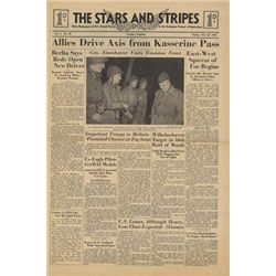STARS AND STRIPES Newspaper Dated February 26 1943