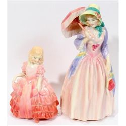 ROYAL DOULTON ~MISS DEMURE &inROSE~ TWO PIECES