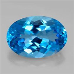 12.38ct Swiss Blue Topaz