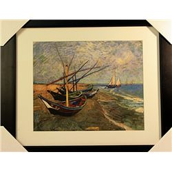 Vincent Van Gogh  Limited Edition-Fishing Boats on the Beach
