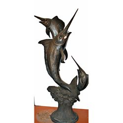 Bronze Swordfish Fountain Moigneiz