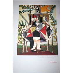 Limited Edition Picasso - Woman In Garden - Collection Domaine Picasso